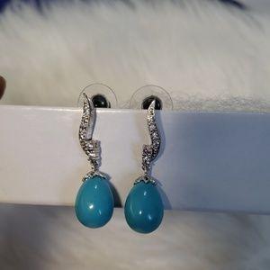 Women's semi precious blue stone new